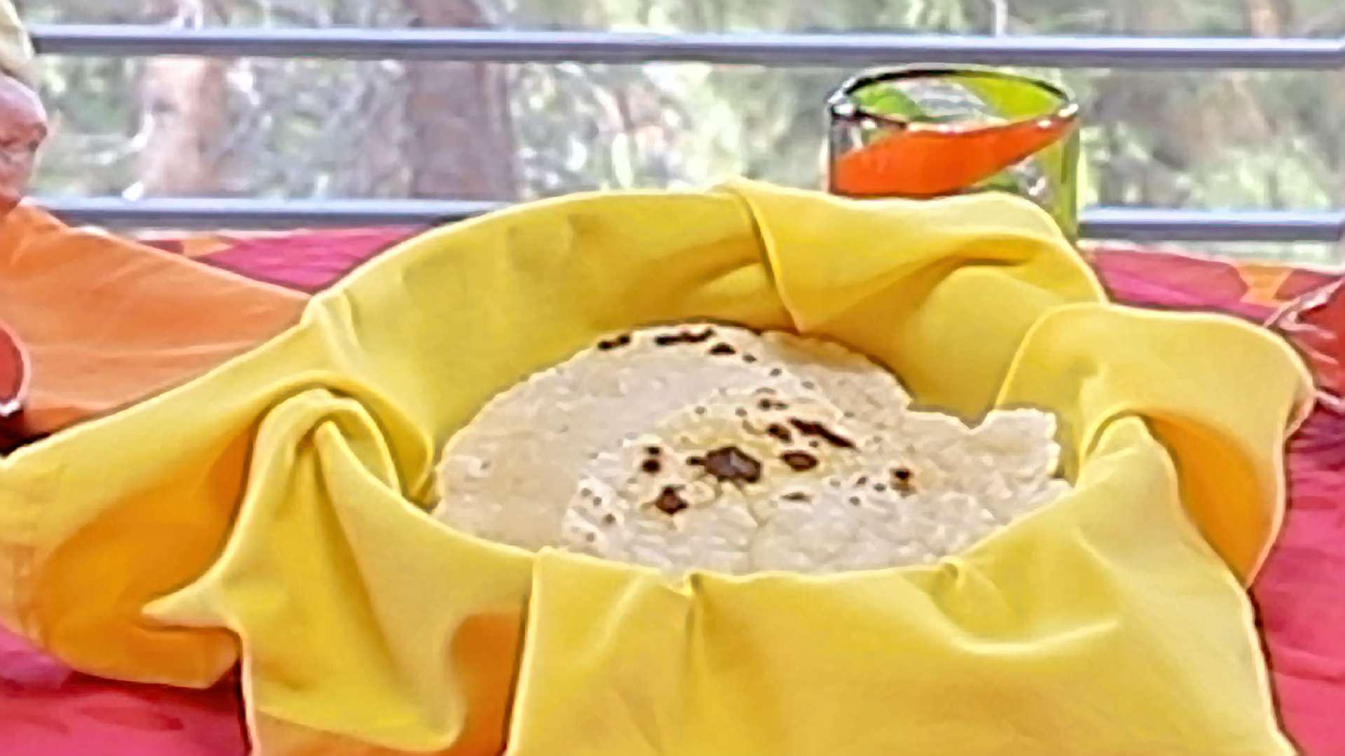 Plate of gluten-free tortillas