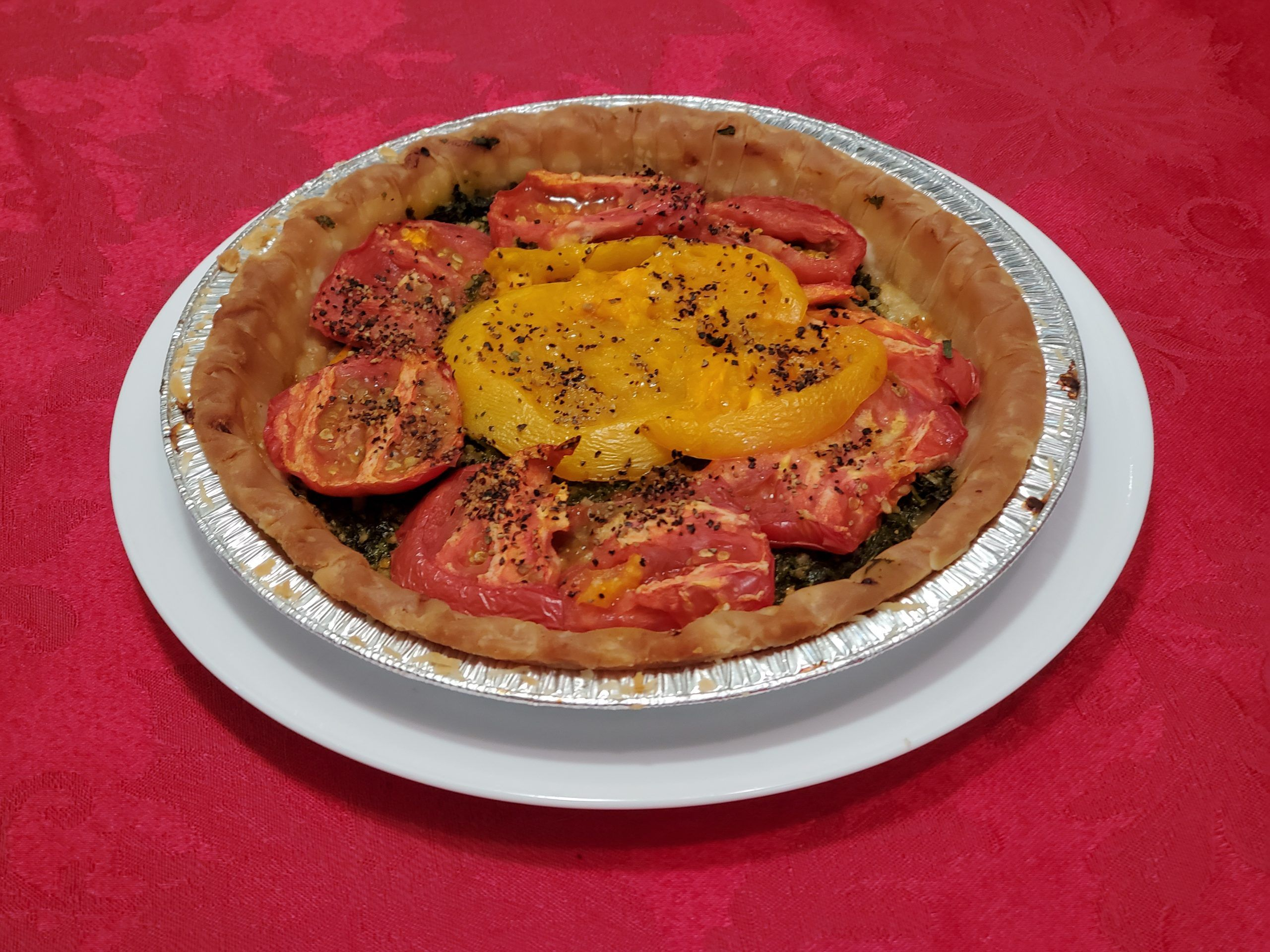 Tomato pie after baking
